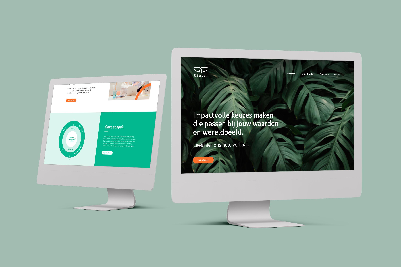 Bewust-website mock up